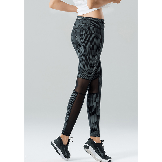 High Waist Reflective Design Pants - Fits4Yoga