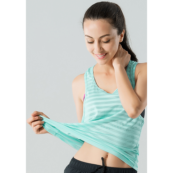 Breathable Quick-dry Mesh Sleeveless Shirt - Fits4Yoga