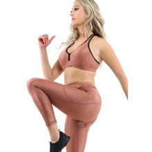 SALE! 50% OFF! Roma Activewear Set - Leggings & Sports Bra - Copper [MADE IN ITALY] - Size Small