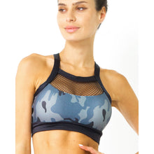 Veloso Supplex Sports Bra With Mesh Trim