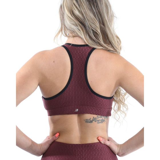 SALE! 50% OFF! Verona Activewear Sports Bra - Maroon [MADE IN ITALY] - Size Small