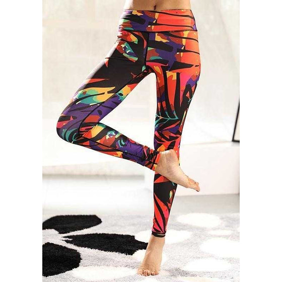 Slim Print Yoga Pants - Fits4Yoga