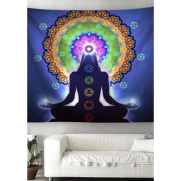 Chakra Meditation Mandala Tapestries Wall Art | Fits4Yoga