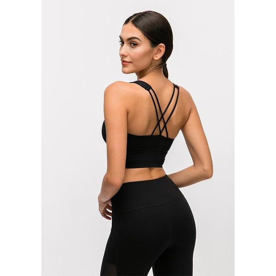 Breathable Quick Dry 4 Way Stretch Yoga Bra | Fits4Yoga