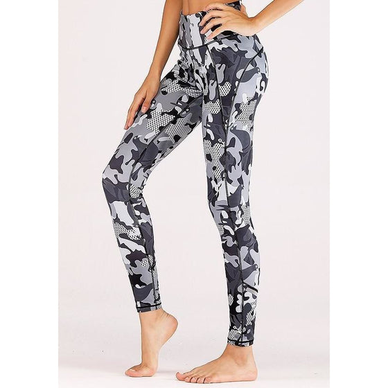 Grey Camouflage leggings | Fits4Yoga