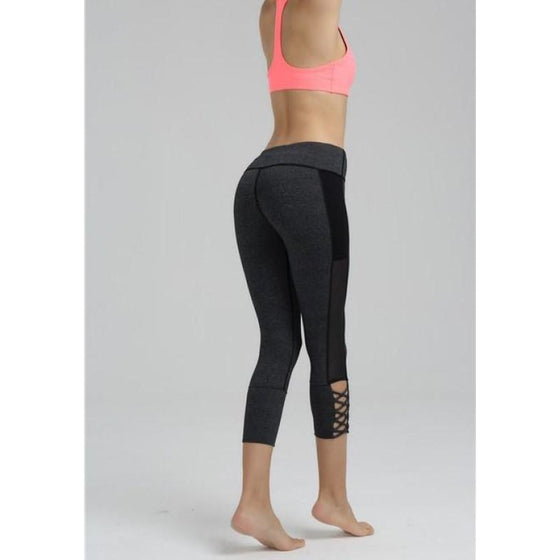 Net Yarn Capris | Fits4Yoga