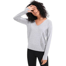 V Neck Long sleeve tunic top | Fits4Yoga