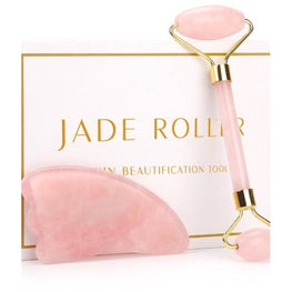 Rose Quartz Jade Stone Facial Massage Roller | Fits4Yoga