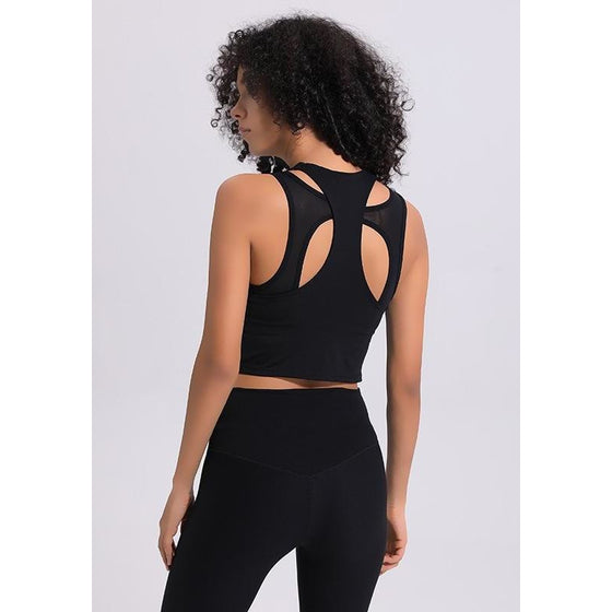Racerback Tank Hollow Out Yoga Top | Fits4Yoga