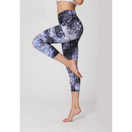 Zoom Printed Yoga Pants | TBFMA