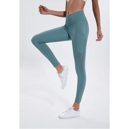 Stretch Mesh Outside Pockets Leggings | Fits4Yoga