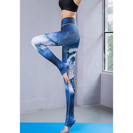 Wolf High Elasticity Printed Yoga leggings