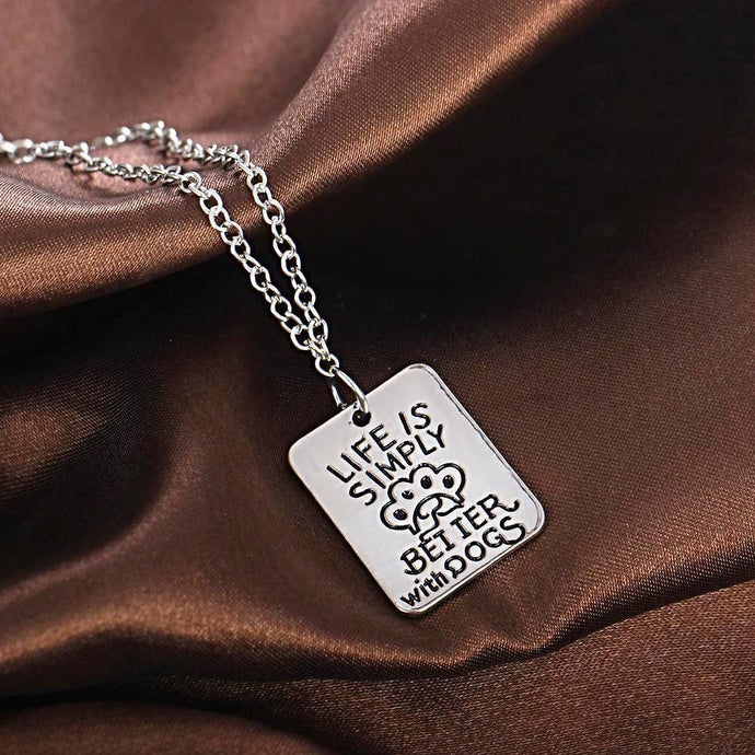Better With Dogs Necklace Necklace