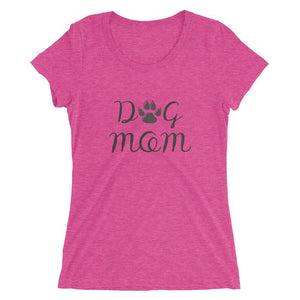 Dog Mom Tri-Blend T-Shirt Berry Triblend / S