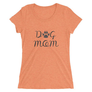 Dog Mom Tri-Blend T-Shirt Orange Triblend / S