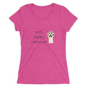 Eat Sleep Rescue Tri-Blend T-Shirt Berry Triblend / S