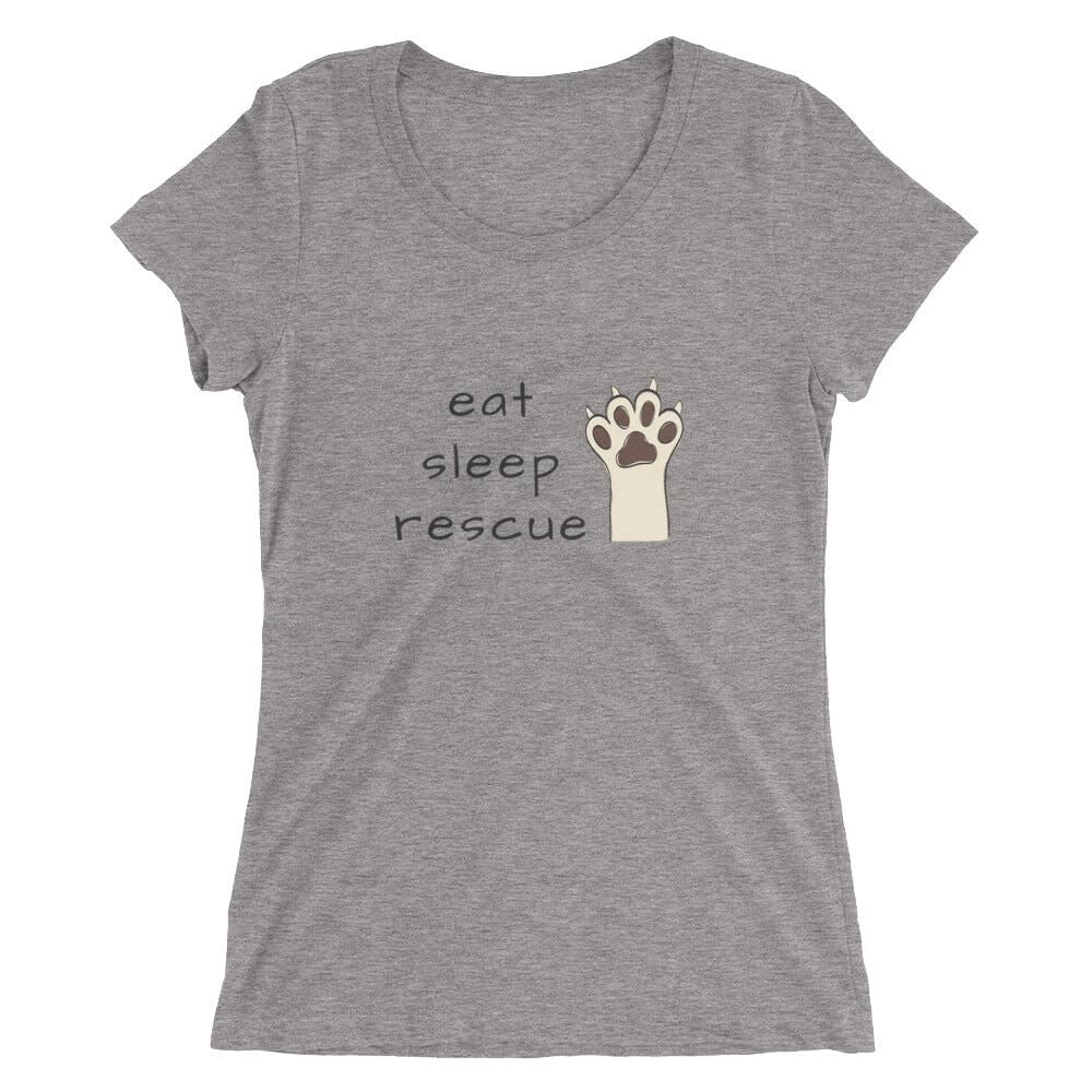 Eat Sleep Rescue Tri-Blend T-Shirt Grey Triblend / S