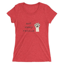 Eat Sleep Rescue Tri-Blend T-Shirt Red Triblend / S