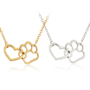 Locked In Love - Paw & Heart Necklace Neck