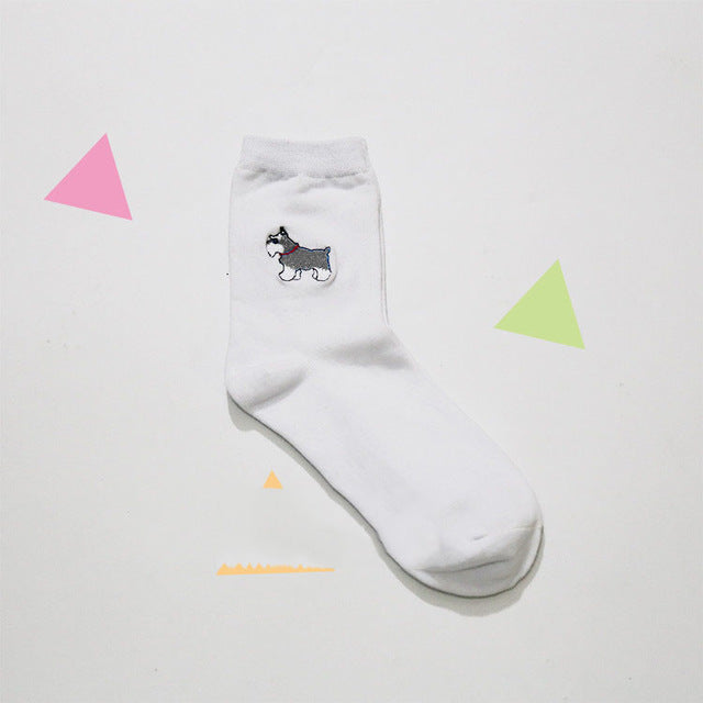 Embroidered Doggy Socks