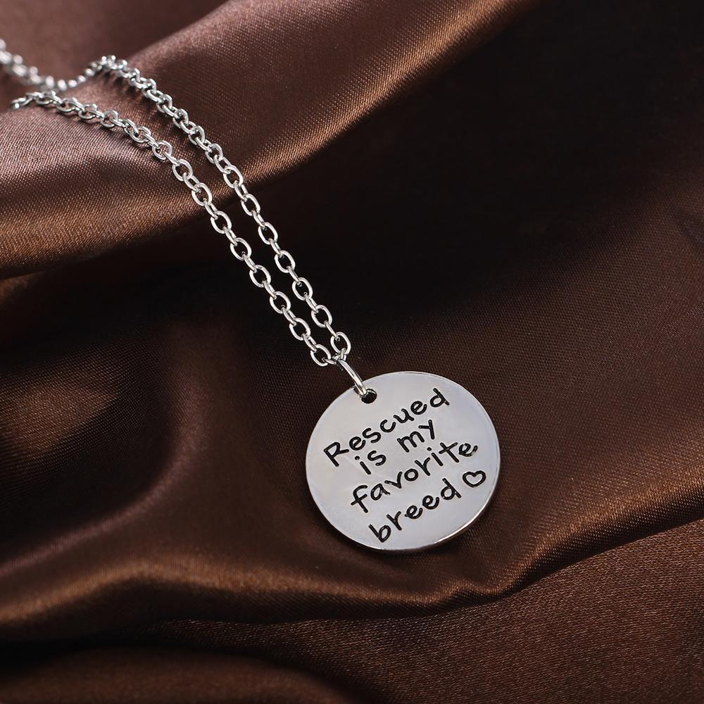 Rescue Dog-Lover Necklace Necklace