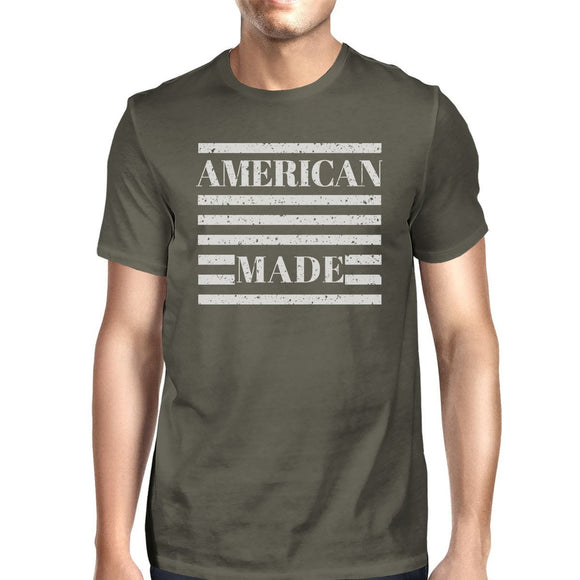 American Made Mens Dark Grey T Shirt Vintage Printing Graphic Shirt - Icymen