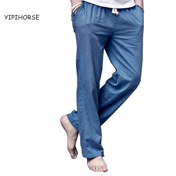 2017 Fashion Men linen pants  Comfortable Male trousers jogger pants casual straight pants plus size M-4XL Free Shipping - Icymen