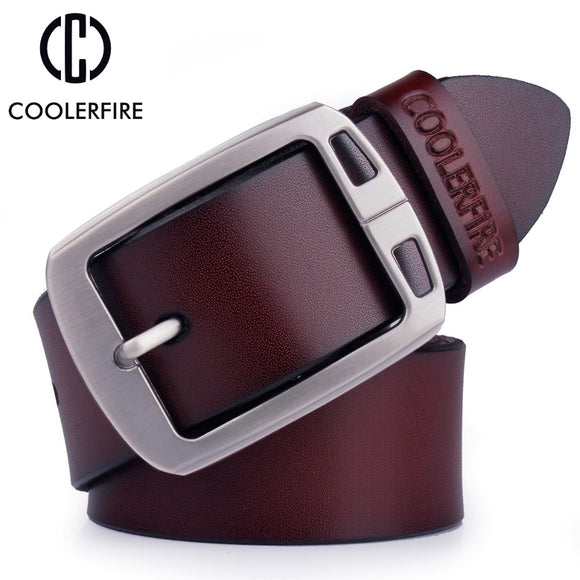 100% cowhide genuine leather belts for men cowboy Luxury strap brand male vintage fancy jeans designer belt men high quality - Icymen