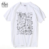 HanHent Physics T-shirts Men Creative Casual Tshirt Short Sleeve Tee shirt Math Cotton Tops The Big Bang Theory Geek T shirts - Icymen