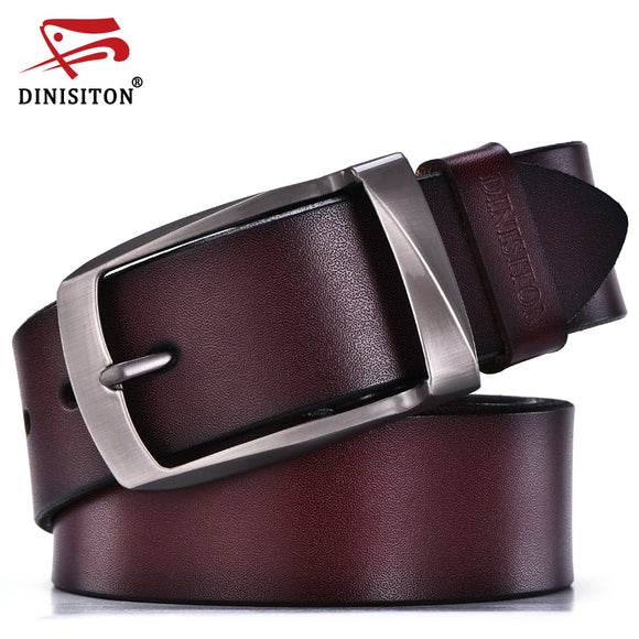 DINISITON designer belts men high quality genuine leather belt man fashion strap male cowhide belts for men jeans cow leather - Icymen