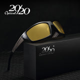 20/20 New Night Vision Sunglasses Men Brand Designer Fashion Polarized Night Driving Enhanced Light anti-glare Glasses PL295 - Icymen
