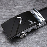 Famous Brand Belt Men 100% Good Quality Cowskin Genuine Luxury Leather Men's Belts for Men,Strap Male Metal Automatic Buckle - Icymen