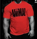 Animal print tracksuit t shirt muscle shirt Trends in 2016 fitness cotton brand clothes for men bodybuilding Tee large XXL - Icymen