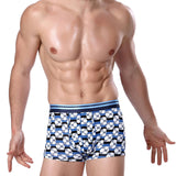 HEE GRAND 2017 New Style Man Ice Silk Boxer Men Fashion Print Stripped Boxers Male Modal Breathable Comfortable Underwear NNP164 - Icymen