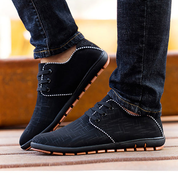 2017 New Plus Siz Men Shoes Spring/Summer Breathable Casual Shoes Men Canvas Shoes Low Laces Shoe Flats Zapatillas Hombre 38-45 - Icymen