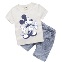 Boutique Kids clothes Summer Baby Boy Clothes Mickey toddler Boys clothing Sets 2017 New Children Cotton Suit T shirt T6372 - Icymen