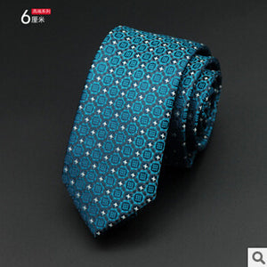 GUSLESON 1200 Needles 6cm Mens Ties New Man Fashion Dot Neckties Corbatas Gravata Jacquard Slim Tie Business Green Tie For Men - Icymen