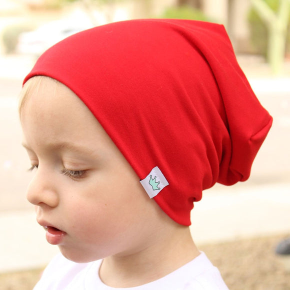 Fashion Cute Solid Knitted Cotton Hats For Newborn Baby Children Autumn Winter Warm Earmuffs Colorful Crown Caps Skullies - Icymen