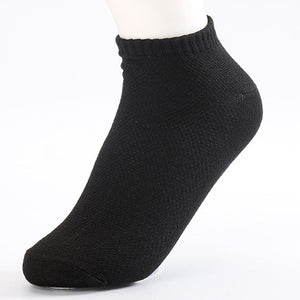 20Pcs=10Pair Solid Mesh Men's Socks Invisible Ankle Socks Men Summer Breathable Thin Boat Socks Size EUR 38-43 cheap price - Icymen