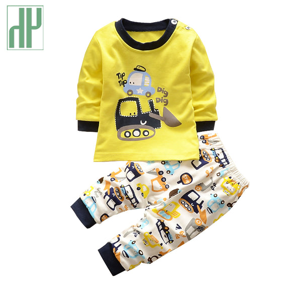 Kids clothes Spring toddler boy clothing set Long sleeve Top+Pants 2pcs suits boutique girls clothing Casual Tracksuit set - Icymen
