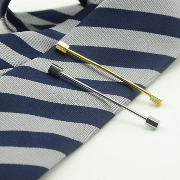 New Men's Suits Collar Clip Silver/Gold Simple Needle Wedding Gentlemen Collar Clip Tie Bar Pins @M23