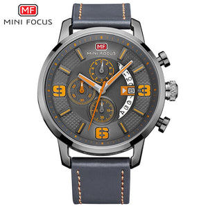 2017 Mens Watches Top Brand Luxury MINIFOCUS Men's Quartz Watch Waterproof Sport Military Watches Men Leather relogio masculino - Icymen
