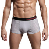JECKSION Cotton Boxers Panties Comfortable Breathable Men's Underwear Shorts Black Belt Style Men underwear - Icymen