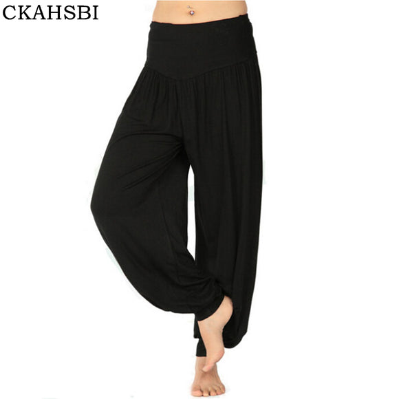 CKAHSBI 2017 Women Yoga Pants Men Plus Size yoga leggings Colorful Bloomers Dance Yoga TaiChi Full Length Pants Modal clothes - Icymen
