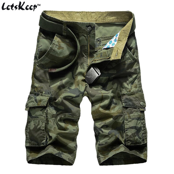 2017 LetsKeep New Summer camouflage shorts men casual cotton cargo short pants baggy military camo shorts no belt 29-44, MA332 - Icymen