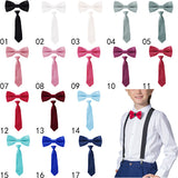 2017 new Fashion Boys Girls kids Adjustable Elastic Y-Back Braces Baby Suspenders Set Bow Tie butterfly NeckTie Wedding HHtr0001 - Icymen