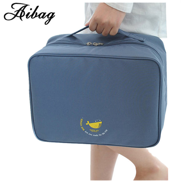 AIBAG Nylon Travel Bag Packing Cube System Durable Large Capacity handbag Luggage Unisex Clothing Sorting Organize Bag portable - Icymen