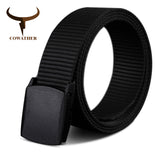 COWATHER 110 130 150 170cm long big size new nylon material mens belt military outdoor tactical male jeans belts for men luxury - Icymen