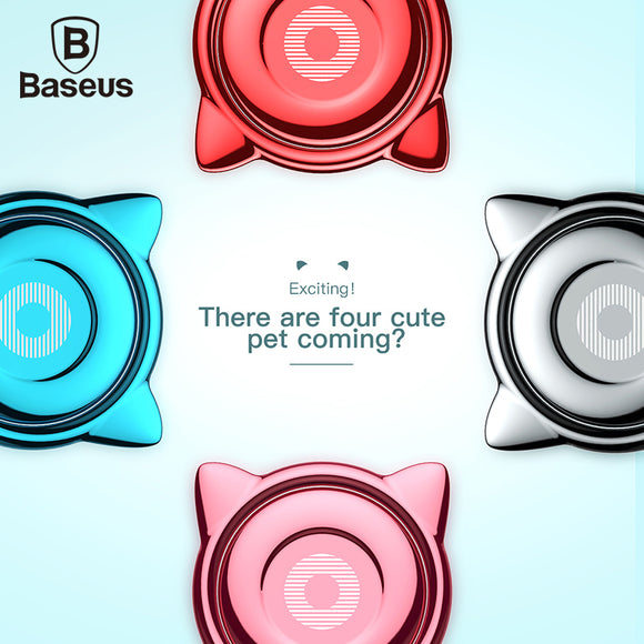 Baseus Cat Ear Finger Ring Holder 360 Degree Mobile Phone Smartphone Stand For iPhone 7 Samsung S8 Fit Magnetic Car Holder - Icymen