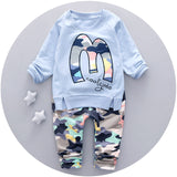 Baby Boy Clothes Brand new 2017 Autumn latest style high quality O-Neck full Sleeve 1-3 y Children boys clothing set A057-85 - Icymen